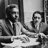 Civil Rights Leaders Bayard Rustin and Dr. Eugene Reed at Freedom House 1964 Photo