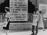 People Picketing an Atlanta Restaurant Which Displaying a Segregationist Sign, 1963 Photo