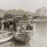 Greek Immigrants, Embarking in Small Boat for a Steamer to American, Patras, 1910 Posters