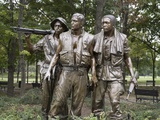 The Three Soldiers by Frederick Hart Was Added to Vietnam Veterans Memorial, 1984 Photo