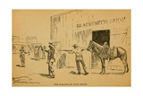John Wesley Hardin Killing Dewitt County Sheriff, Jack Helms, on August 1, 1873 Print