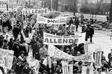 Demonstrators Marching to Support of Socialist Salvador Allende in 1964 Lámina