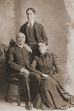 Franklin Roosevelt with His Mother and Father a Formal Portrait in Poughkeepsie NY Ca. Late 1890s Photo