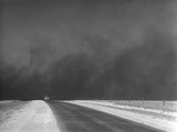 Heavy Black Clouds of Dust Rising over the Texas Panhandle. March 1936 Prints