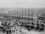 Rows of Neat Family Houses Near the Homestead Steel Works, Pennsylvania, Ca, 1905 Poster