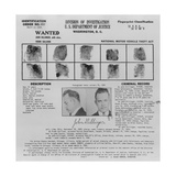 Wanted Poster for John Dillinger, 1934 Posters