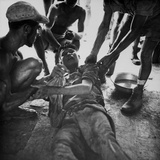 Wounded Vietminh Prisoner Gets First Aid from Franco-Vietnamese Medics, 1950s Prints