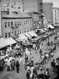 Jewish Market on the Densely Packed East Side, NYC, 1890s Prints