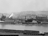 Carnegie Blast Furnaces at the Homestead Steel Works, Pennsylvania Ca, 1905 Posters