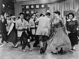 Teens Dancing on Dick Clark's American Bandstand in 1961 Prints