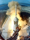 Saturn V Missile Launches the Apollo 11 Moon Mission, July 16, 1969 Photo
