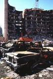Destroyed Automobiles Near the Bombed Alfred Murrah Federal Building, 1995 Posters