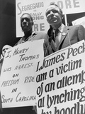 Freedom Riders James Peck and Henry Thomas Protest at NYC Bus Terminal, May 1961 Photo