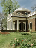 Monticello, Thomas Jefferson's Plantation Home, West Front from Southwest, Ca.1995 Prints