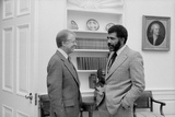 CBS Reporter Ed Bradley Interviewing Pres. Jimmy Carter at the White House, 1978 Photo