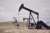 Oil Wells Near the Historical Teapot Dome Petroleum Reserve in 1970s Photo