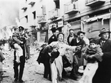 Family Fleeing from the Jewish District of Jerusalem, after a Bomb Blast, Feb. 1948 Photo