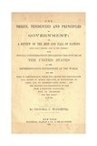 Title Page of the Origin, Tendencies and Principles of Government, 1871 Prints