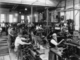 Men Working at Machines in the Government Printing Office, Washington, D.C Photo