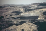 Artificial Badlands after Coal Strip Mining in Southeastern Ohio. Oct. 1973 Photo