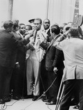 Malcolm X Being Interviewed by Reporters in New York, 1964 Photo