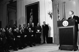 Lyndon Johnson Speaking Prior to Signing the Public Broadcasting Act of 1967 Posters
