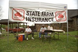 State Farm Insurance's Outdoor Office in Dade County after Hurricane Andrew 1992 Prints