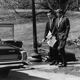 President Kennedy with Theodore Sorensen, His Advisor and Speech Writer, March 1963 Prints