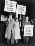 Anti-Communist Soviet Defector, Peter Piragov, Protesting in NYC on March 27, 1949 Posters