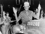 African American Man with Hands Raised in Cleveland Riot, July 1966 Prints