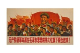 1967 Cultural Revolution Poster of People Waving Book of Works of Mao Tse-Tung Prints