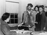 African American Women Registering for Basic Training, Women's Army Corp, 1940s Photo