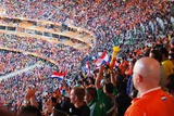 Fans Cheer During the Netherlands Vs. Denmark World Cup Soccer Match, 2010 Posters