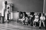 Migrant Workers Children Measured for Height, at School in New Jersey, 1956 Photo
