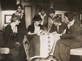 National Woman's Party's Alice Paul Sews a Star on Ratification Flag, Ca. 1919 Posters