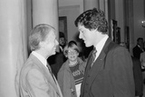 President Jimmy Carter with Future Pres. Bill Clinton, Who Was 33, Ca. 1979 Photo