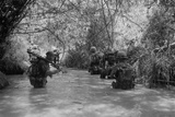 US Marines Move Through Water in Vietnam, July 1966 Photo