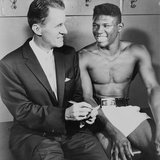 World Welterweight Champion Emile Griffith with Sportscaster Dun Dunphy, 1961 Photo
