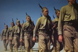 Marines Finishing Training at Parris Island S.C. May 1942 Prints