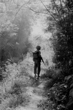 US Marine Walking Point for His Unit, Finding a Safe Path, Vietnam War, 1966 Photo