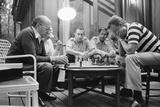 Menahem Begin and Zbigniew Brzezinski Play Chess at the Camp David Summit, 1978 Kunstdruck