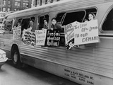 Washington Freedom Riders Committee, Protest Segregation in NYC, May 1961 Print