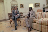 President Jimmy Carter Chatting with Hank Aaron in the Oval Office, Aug. 5, 1978 Photo