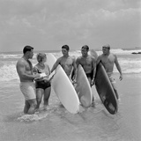 Organizers and Winners of a USO Surfing Contest in Vietnam, Sept. 1966 Photo