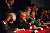 Serbian President Slobodan Milosevic at the Dayton Peace Accords, Dec. 14, 1984 Photo