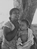 Mexican-American Mother and Child in California, 1935 Dorothea Lange Photo Posters
