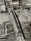 Aerial View of Edmund Pettus Bridge During the Selma Alabama Voting Rights Campaign, 1965 Photo
