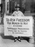 Suffragist Protests Criminal Arrests of National Woman's Party Members, 1910s Photo