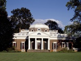 Monticello, Thomas Jefferson's Plantation Home, West Front, Ca. 1995 Photo