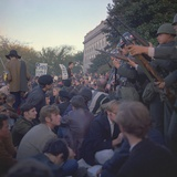 Military Police Block Protesters at the Mall Entrance to the Pentagon, Oct. 1967 Print